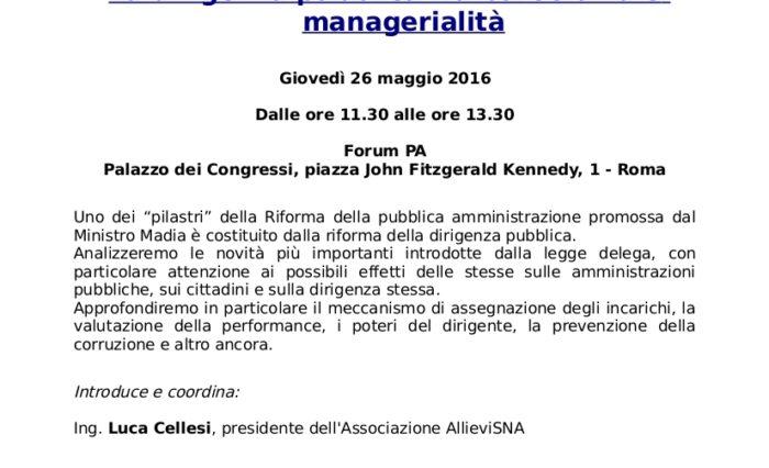 Programma convegno AllieviSNA Forumpa2016